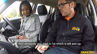 Fake Driving School fuck for Sade rose