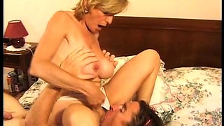 Slutty wife with big tits is addicted to hardcore anal sex