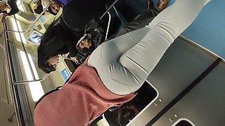 Super hot girl big ass tight white pants