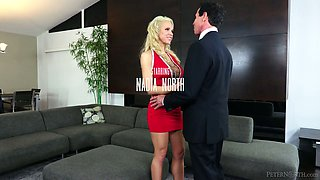 Cuckold husband invites several well endowed dudes for his whore wife Nadia North