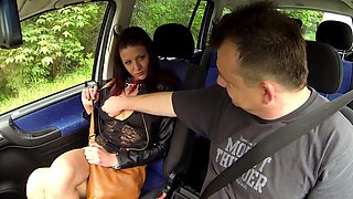 Young Tattoed Girl Fucks in Car with Stranger for MONEY