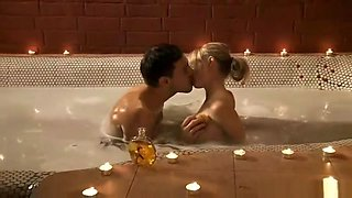 Erotic bath and sensual kiss