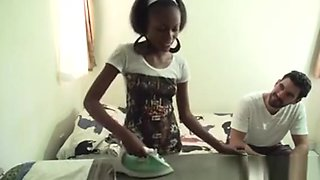African Hottie With Nicely Shaped Booty Receives Big Cock