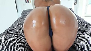 Ebony chick with bubbled ass Harley Dean gets fucked in hot POV clip