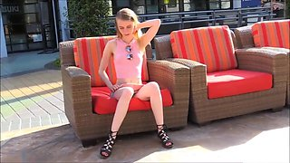 Teen Charlotte Interview & Public Flashing