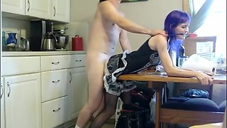 Fucking The Naughty Maid In The Kitchen