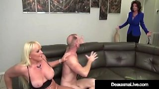 Mature moms deauxma &amp alexis golden have interracial 4some!