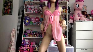 EMO masturbation on a webcam show