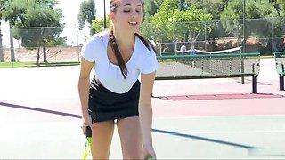 Jenna 01 - tennis strip and insertion