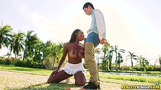 Brandi is a black babe in need of a nasty cock ride