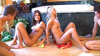 Caprice And Her Friend Suck Cocks