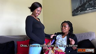 Ebony Dyke Dominantly Fucks Amateur Girlfriend