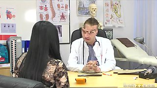 Doctor with a massive dick fucks a patient