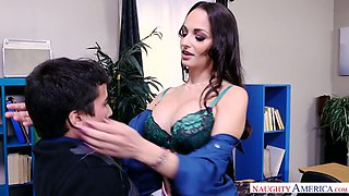 Mega busty teacher Lexi Luna is eager for big and hard dick of her favorite student