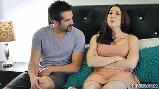 Curvaceous wife Chanel Preston gives a blowjob and gets her pussy slammed