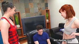 pajama party turns to blowjob fest