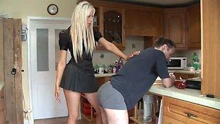 Hot !!!!!!! girl spanks man 8