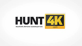 HUNT4K. Perfect pickup by neighbor who offers money to lovely girl