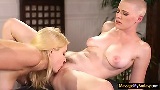 blond masseuse giselle palmer 69ing with her skinhead client