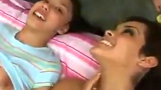 Hot college girl give babysitter a blowjob