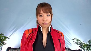 Japanese doll Aoi loving her oiled natural tits fondled