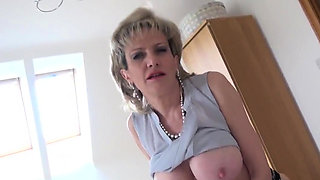 Adulterous english mature gill ellis reveals her monster tit
