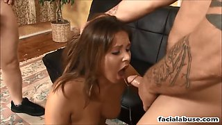 cute hillbilly slut nyla knoxx throat and pussy abused
