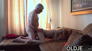 Old Young Porn Grandpa Fucks Petite Teen Spits Cum Massage