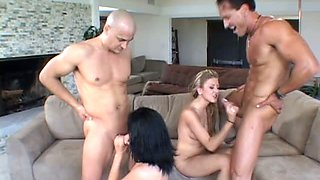 Horn-mad slut Ava Rose is fond of wild and kinky swinger sex party