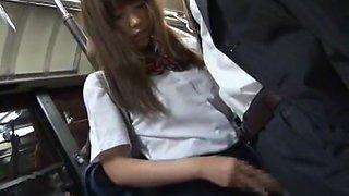 Hottest Japanese girl Kotomi Asakura, Hitomi Kitagawa, Mahiro Aine in Best Handjobs, Blowjob JAV scene