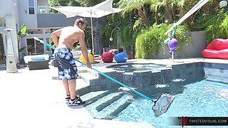 Dana Vespoli and Johnny Castle MILF by the Pool Fucking