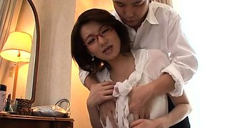 Superb scenes of sex with a large melons japanese doll