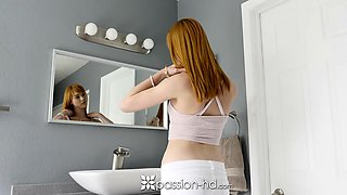 redhead anny aurora sensual morning bath anal