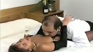 Exquisite and lusty hot housemaid seduced and fucked in the hotel room
