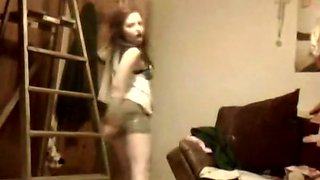 18 college girl sisters sexy dance on webcam