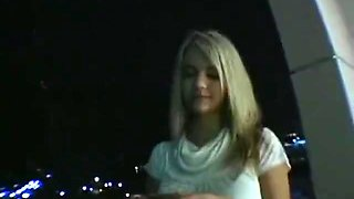 Perfect body blonde gets picked up on street & fucked hard, POV