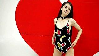 Alisa angel shy sensual teen in swimsuit