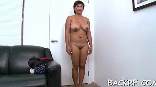 Naughty latin maid reina fucks wildly