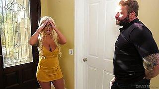 Bisexual dude fucks super slutty blonde Brandi Bae and her kinky boyfriend
