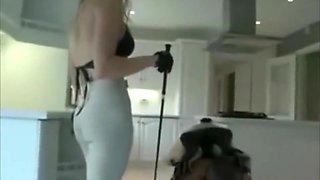 Mistress riding on her slave