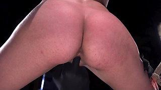Grueling Punishment in Brutal Bondage Makes a Happy Slut