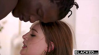 Brunette teen fucks bbc