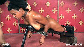 Mature mistress and her assistant fuck one ebony porn model Kahlista Stonem