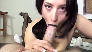 Goth Black lipstick Blowjob
