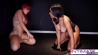 check out savana & jenna in this naked wrestling match