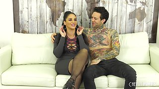 Sheena Ryder makes a hard dick disappear in her hairy pussy