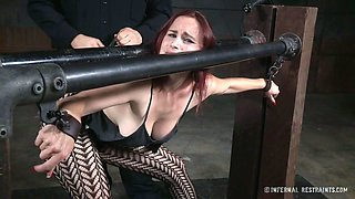 Dude punish pussy of sex-appeal red haired milf Bella Rossi