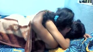 Bunked Virgin Desi Indian School Girl Blowjob and Fucking with BF