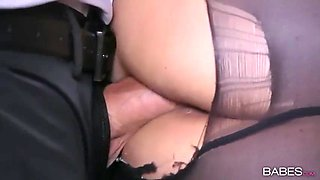 gorgeous secretary nina north having a wild fuck in an office