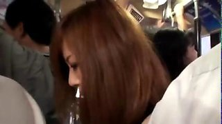 Asian teen travels by bus and gets fingered